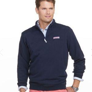 Vineyard Vines Navy Blue Shep 1/4 Zip Shirt